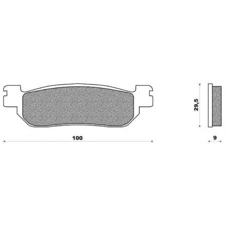Plaquettes ARR  EBC  Xmax 250