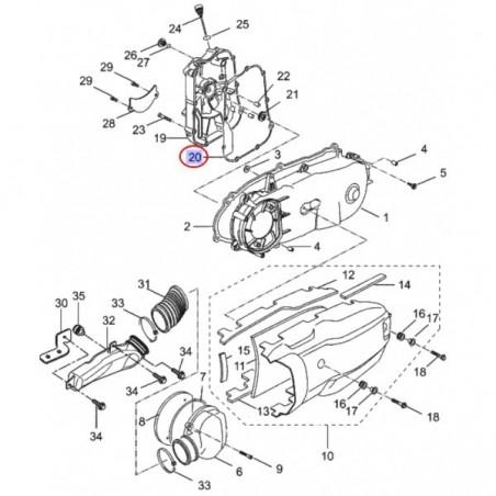 joint de carter allumage xmax 125cc