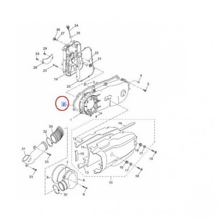 Joint de carter transmission xmax 125