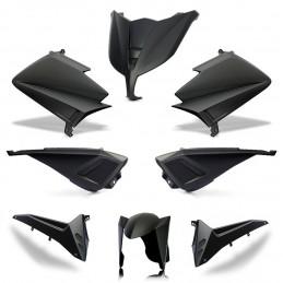 Pack tmax 530 BCD sans led - coques arr sans poignées - flancs sans retro - noir brillant
