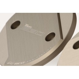 Capot moteur tmax 530 aluminium CNC (la paire) marron mat