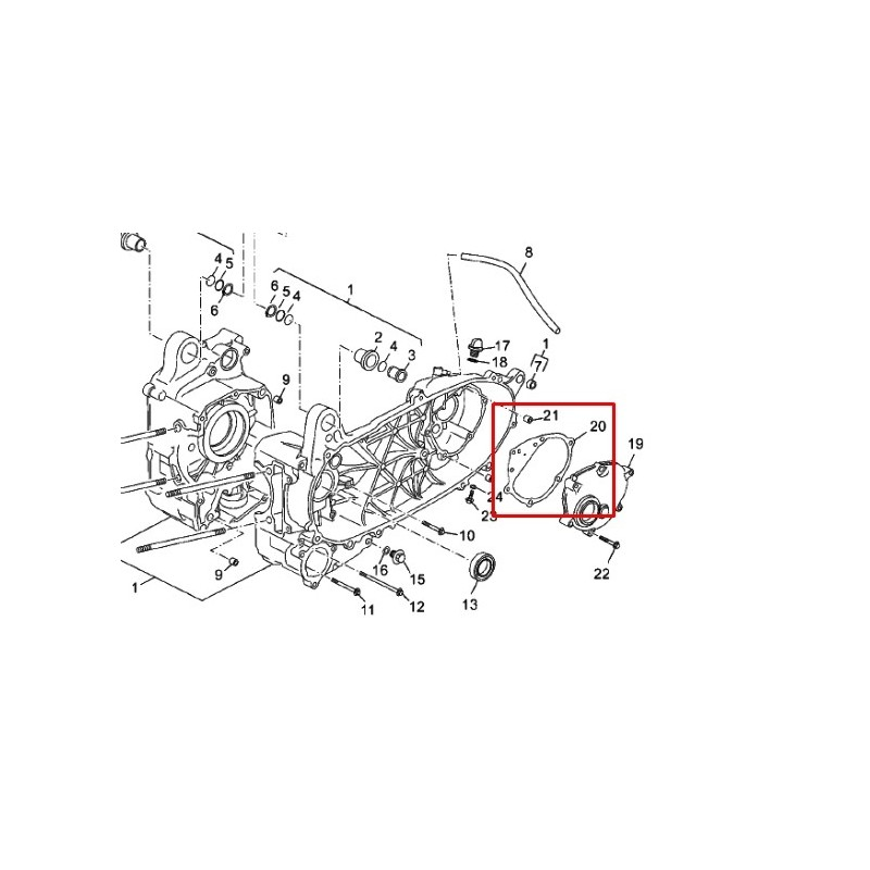 Joint carter transmission secondaire / X-max 125