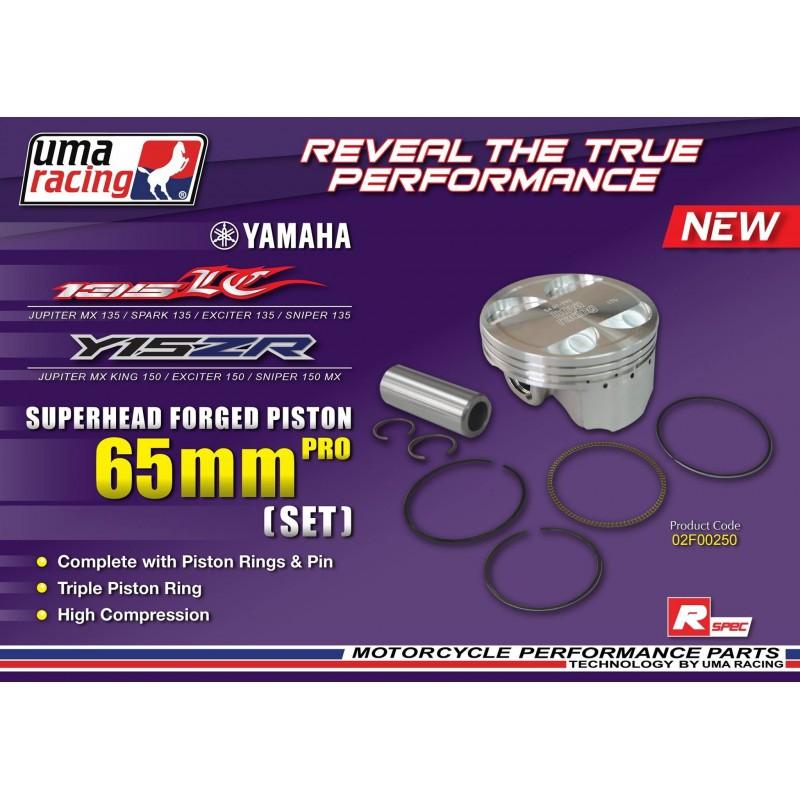 Piston forgé complet 65mm uma-racing / pour superhead