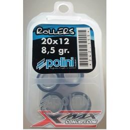 Galets variateur POLINI 20X12 / 8.5Gr / X-MAX 125